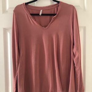 Rose-Colored Long Sleeve Top